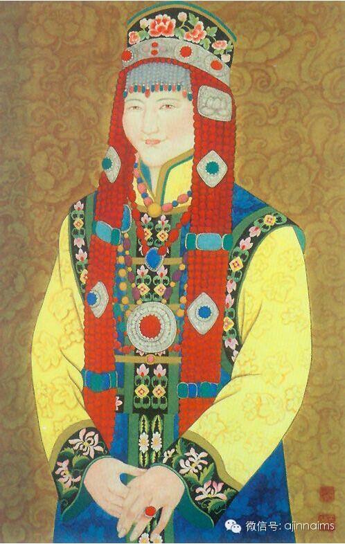 传统蒙古族女子头饰欣赏